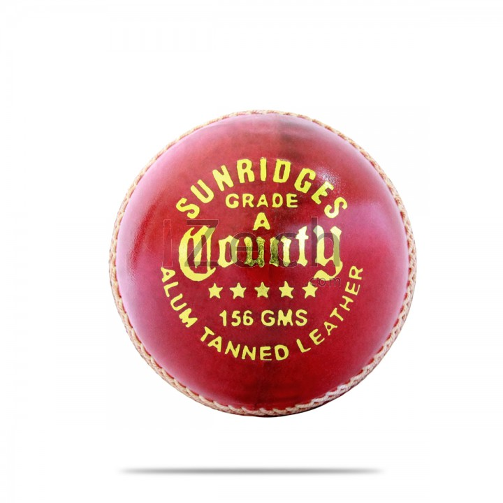 County Cricket Ball Red (Alum Tanned)
