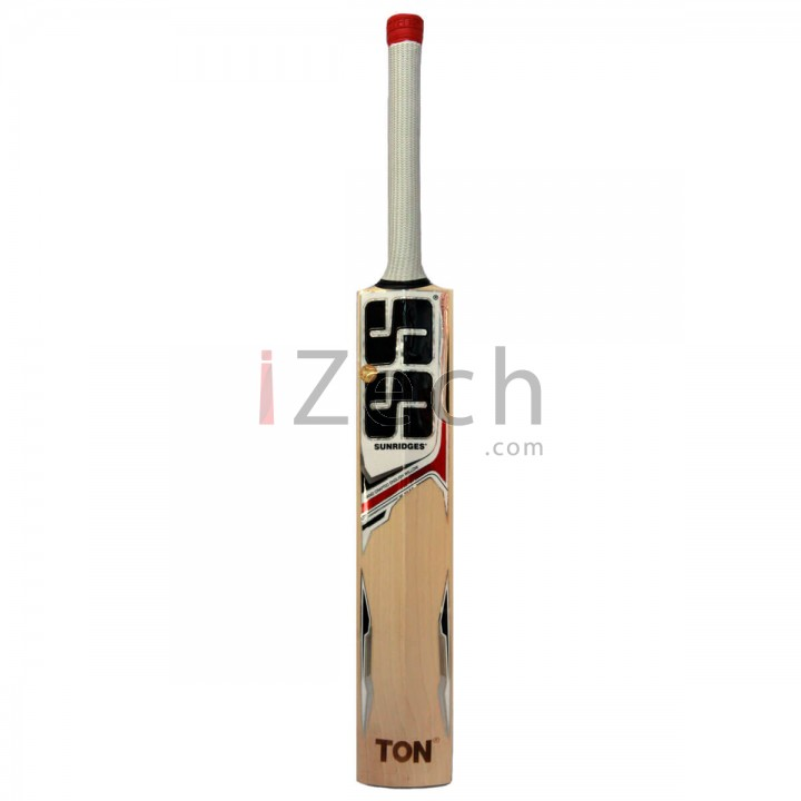 White Edition Red English Willow Cricket Bat Size SH