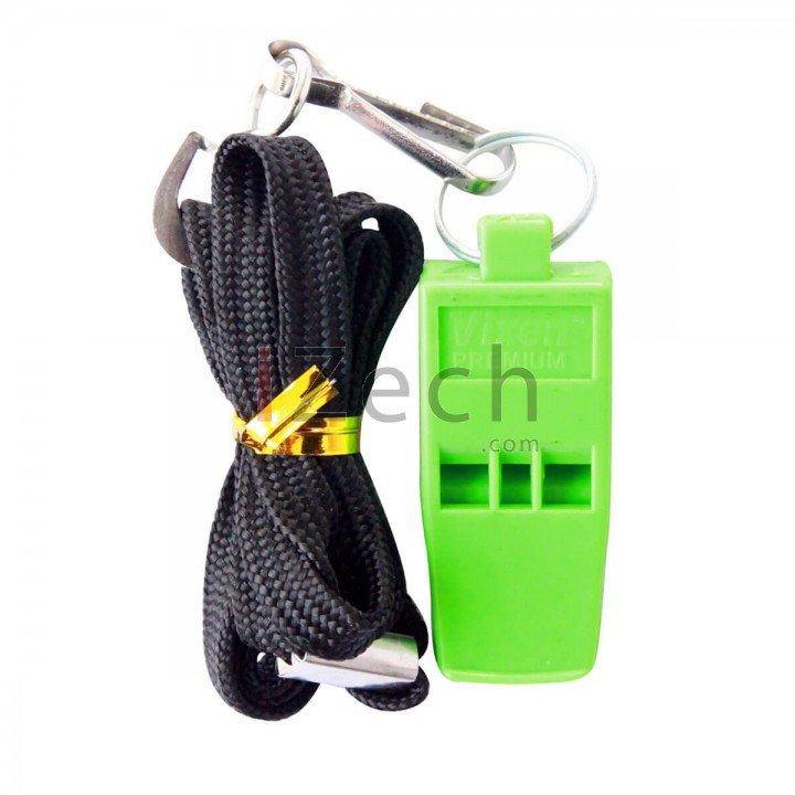 Green Whistle Without Cork With Lanyard, Blister Pack