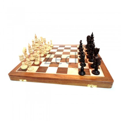 Hand Made Wooden Chess Board Folding