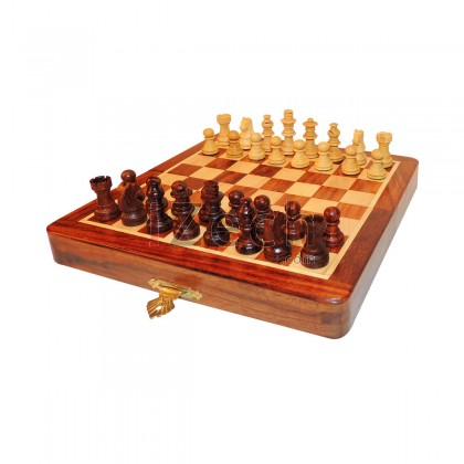 Hand Made Wooden Magnetic Chess