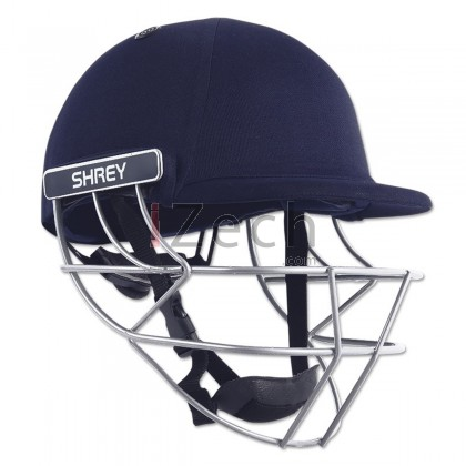 Classic Steel Cricket Helmet - Navy