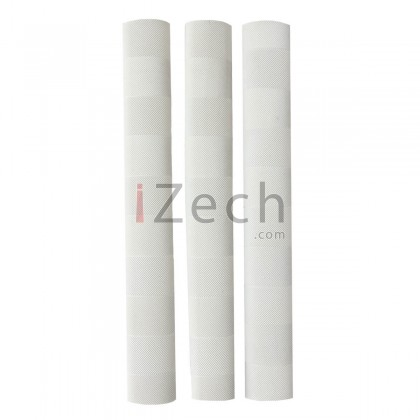 Chevron Cricket Grip White (Pack of 3)