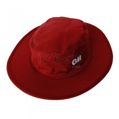 Panama Maroon Cricket Hat