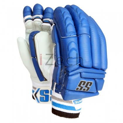 Blue Super Test Batting Gloves Mens Size
