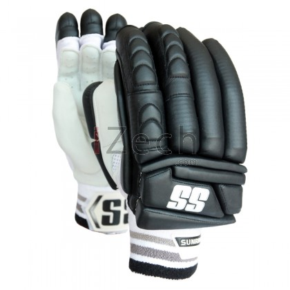 Black Super Test Batting Gloves Youth Size