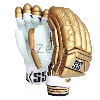 Gold Super Test Batting Gloves Mens Size