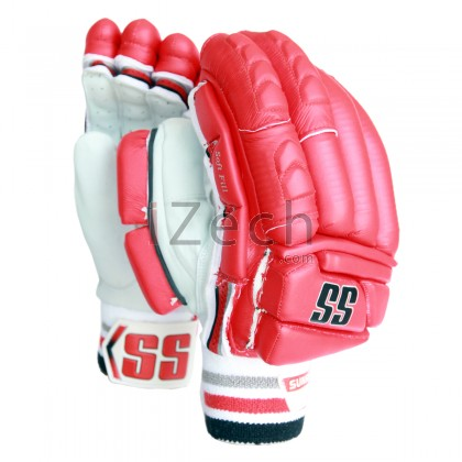 Red Super Test Batting Gloves Mens Size