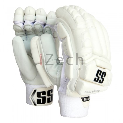 SS white Super Test Batting Gloves Mens Size