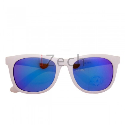 Classy Blue With White Frame Sunglasses