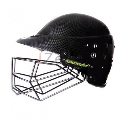 Moonwalkr Mind Black/Grey Carbon Fiber Cricket Helmet