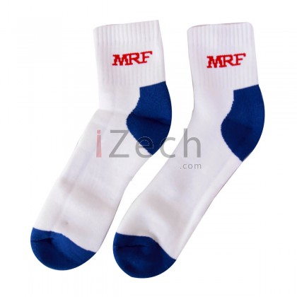 Cricket Socks White/Blue Mens Size