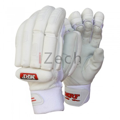Grand Jr White Batting Gloves Youth Size