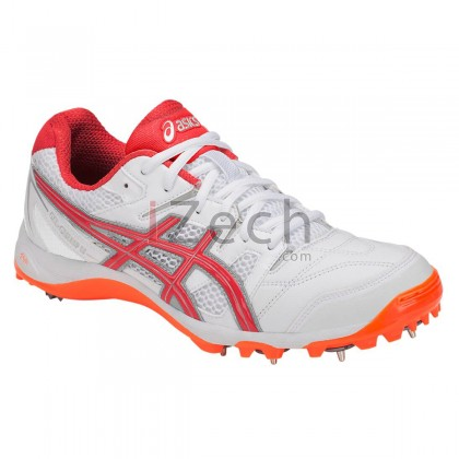 GEL-GULLY 5 WHITE/RED ALERT Cricket Shoes