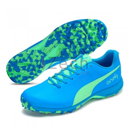 PUMA 19 FH Rubber One8 Elektro Green-Nrgy Blue Cricket Shoes