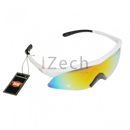 Prime Rainbow with white Frame Sunglasses