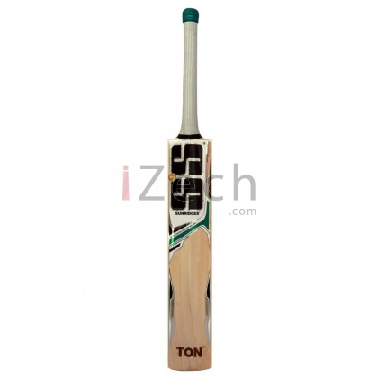 White Edition Green English Willow Cricket Bat Size SH