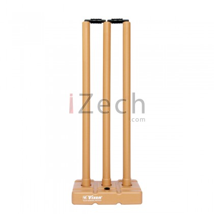 Cricket Stump Set with Base and Bails (Brown)