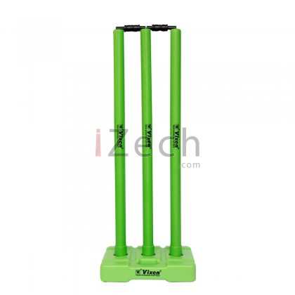 Cricket Stump Set with Base and Bails (Green)
