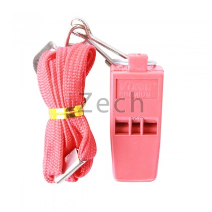 Pink Whistle Without Cork With Lanyard, Blister Pack