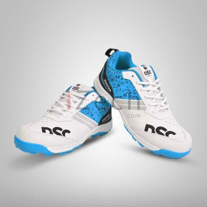 Zooter White/Blue Cricket Shoes